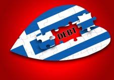 Puzzle Greece Flag royalty free stock photos