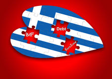 Puzzle Greece Flag royalty free stock image