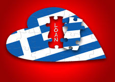 Puzzle Greece Flag Royalty Free Stock Photography