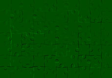 Puzzle green background. Royalty Free Stock Image