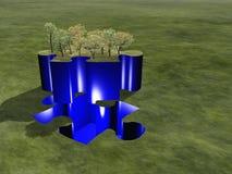 Puzzle green landscape Stock Images
