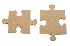 Puzzle grigio isolato Fotografie Stock Libere da Diritti