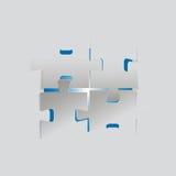 Puzzle gris réalisé illustration de vecteur