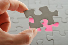 Puzzle with Hand Stock Photos