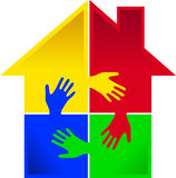 Puzzle hand home Royalty Free Stock Image
