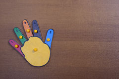 Puzzle hands with numbers Royalty Free Stock Photo