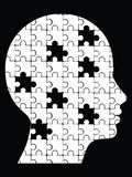 Puzzle head. Missing pieces puzzle head Stock Image
