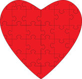 Puzzle Heart. A Heart Shaped Puzzle. Illustrating the complexities of relationships stock illustration