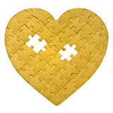 Puzzle heart Stock Photography