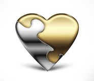 Puzzle heart Royalty Free Stock Images