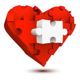 Puzzle heart Royalty Free Stock Photos