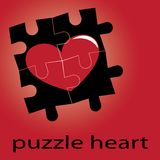Puzzle heart Stock Photo