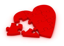 Puzzle Heart stock photos