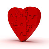 Puzzle Heart Stock Images