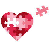 Puzzle heart icon. Vector illustration of a pink Puzzle heart icon Royalty Free Stock Photography