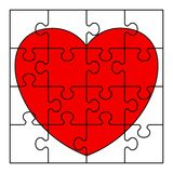 Puzzle heart image Royalty Free Stock Photos
