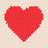 Puzzle heart pattern. Vector Royalty Free Stock Photography