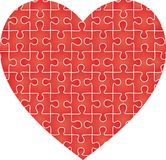 Puzzle heart pattern. Vector Royalty Free Stock Photo