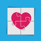Puzzle Heart Stock Image