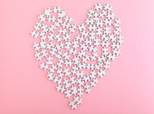 Puzzle with heart shape Royalty Free Stock Images