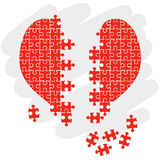 Puzzle heart vector Stock Photography