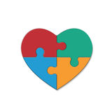 Puzzle heart Royalty Free Stock Photo