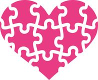 Puzzle heart vector. Puzzle heart love valentine vector Stock Photography