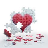 Puzzle heart2 vector illustration