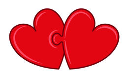 Puzzle hearts Royalty Free Stock Images