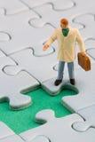 Puzzle hole man royalty free stock image