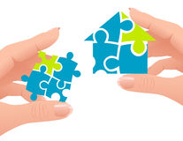 Puzzle home Royalty Free Stock Photos