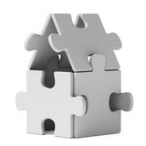 Puzzle home. On whihe background Stock Image
