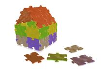 Puzzle home Royalty Free Stock Photography