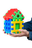Puzzle Home on hand. Stock Images
