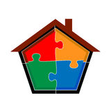 Puzzle home Stock Images