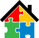 Puzzle home. Vector illustration of puzzle home Stock Illustration