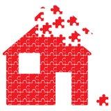 Puzzle house. Isolated puzzle house  illustration Stock Image