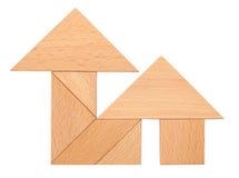 Puzzle house. Shape on white Stock Images