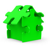 The puzzle house Royalty Free Stock Photos