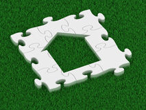 Puzzle house Royalty Free Stock Photo