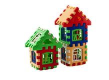 Puzzle house. Like a house background isolated Royalty Free Stock Image