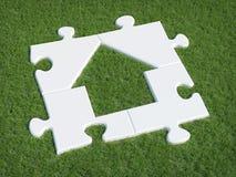 Puzzle house symbol Stock Image