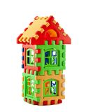 Puzzle house. Toys like a house on a green background Royalty Free Stock Image