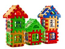 Puzzle house Stock Images