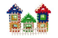 Puzzle house. Toys like a house isolated Stock Photos