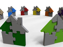 Puzzle houses - color diversity Royalty Free Stock Photo