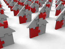 Puzzle houses Royalty Free Stock Photos