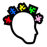 Puzzle human icon Stock Images
