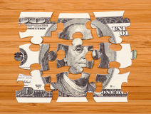 Puzzle of a hundred dollar bill Royalty Free Stock Photography