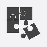 Puzzle icon flat illustration. Pictogram Stock Image
